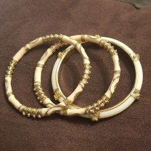 2 enamel bracelets plus one bangle for fun